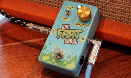 Pedal de guitarra agrega pedos a la música